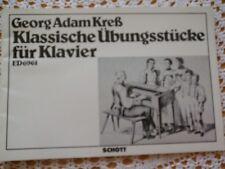 Klassische Übungsstücke für Klavier Georg Adam Kreß Klavier Noten Schott Verlag