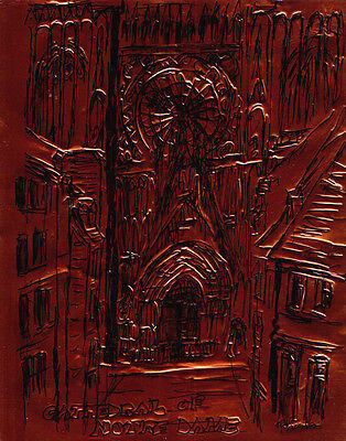 """""""CATHEDRAL OF NOTRE DAME"""" by Ruth Freeman ETCHED COPPER FOIL 8"""" X 10"""""""