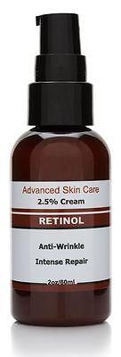 Retin ol night cream 2.5% Vitamin A, Organic,Anti Aging, Acne, Wrinkles 2.oz