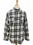 thumbnail 1 - Converse One Star Men's Casual Long Sleeve Pearl Snap Gray Plaid Shirt Size XL