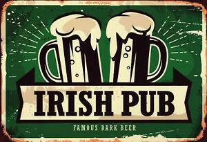 Irish Pub Beer Tin Sign Shield Arched Metal Tin Sign 20 X 30 CM SM0124-X