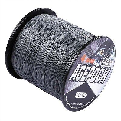 New!100M-2000M Gray 10-300LB 100% PE Dyneema Agepoch Braided Fishing Line