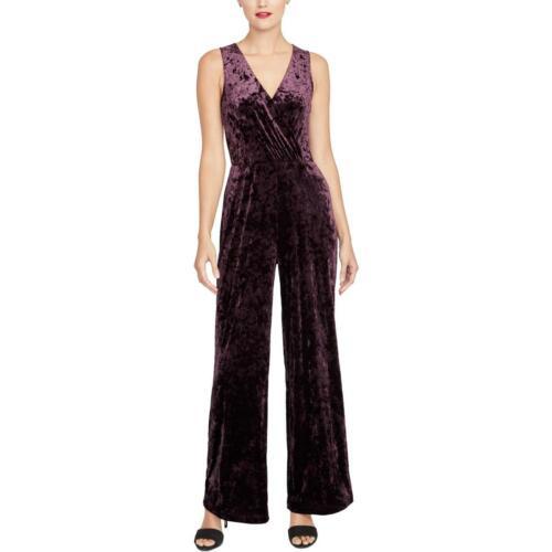 Rachel Rachel Roy Womens Velvet Faux Wrap Sleeveless Jumpsuit BHFO 3897