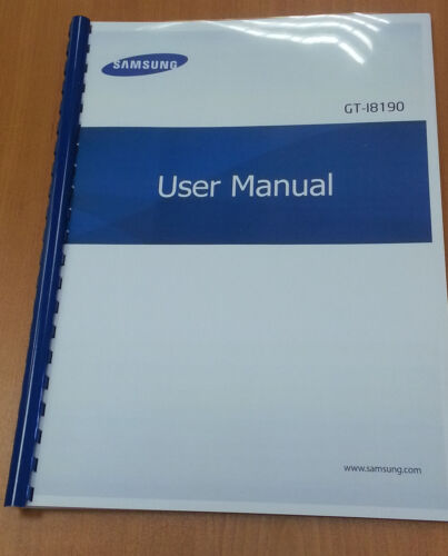 samsung galaxy s3 mini i8190 printed user manual guide instructions rh ebay co uk user manual for galaxy s4 user manual for galaxy s9