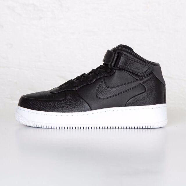 official photos 9112a ceb9b NikeLab Air Force 1 Mid Black White Men's Sz 6.5 Women Sz 8 Nike Leather  Shoes