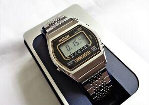Vintage Otron Lcd New Old Stock Split Chronograph Digital Men S Wristwatch Ebay