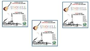 3 X Chaîne Set Pour Turc Instrument à Cordes Long Cou Saz 0.20 Mm-afficher Le Titre D'origine Longue DuréE De Vie