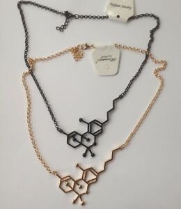 Caffeine Necklaces Chemistry Molecule Pendant Anniversary Graduation Bridesmaid
