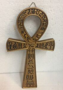 Details about Egyptian Ankh Loop Plaque Crux Ansata Symbol of Life Figurine  Statue 7 inches