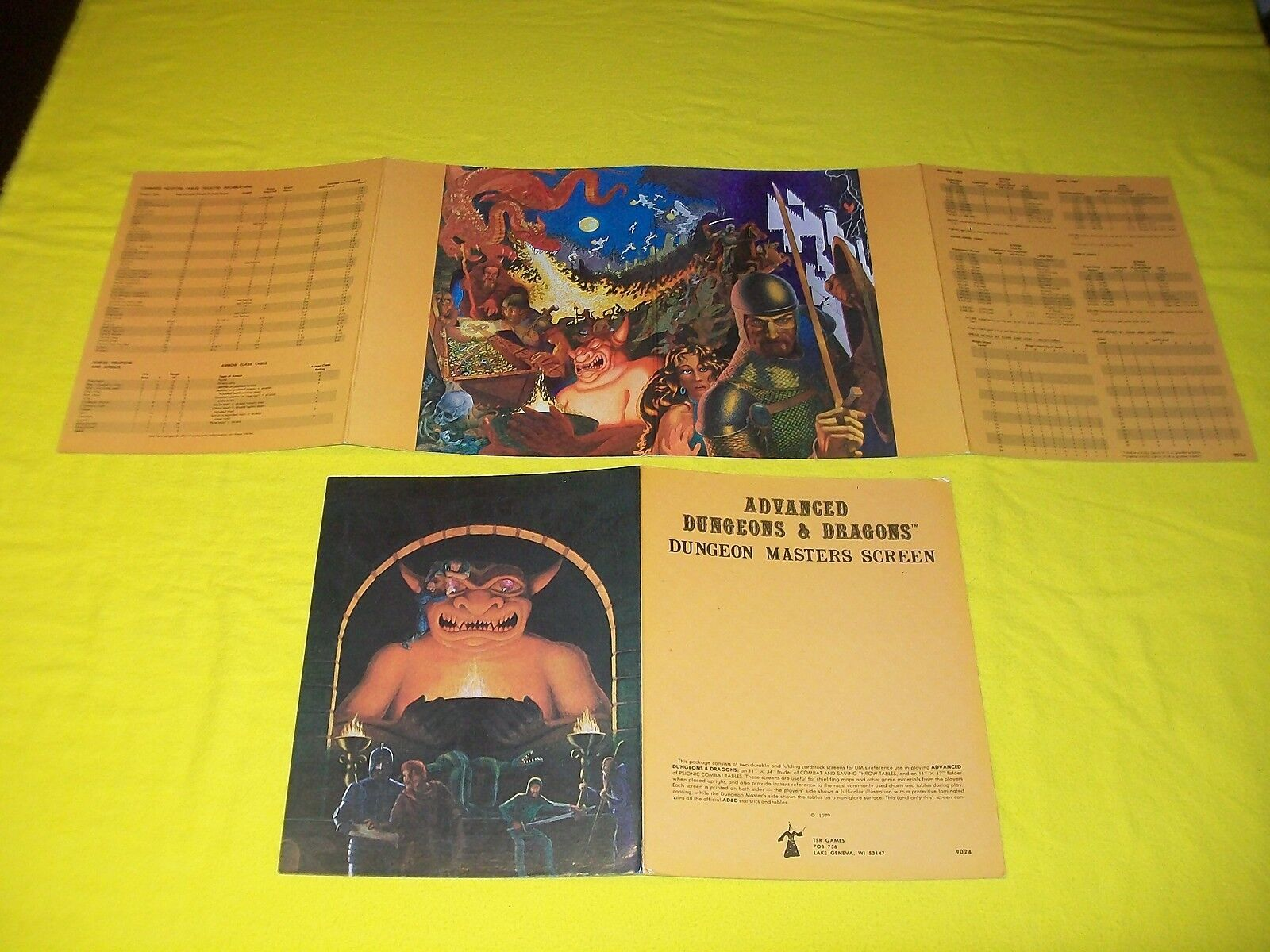 Dungeon Masters pantalla Dungeons & Dragons AD&D TSR 9024 - 7 1ST panel impreso 2 4