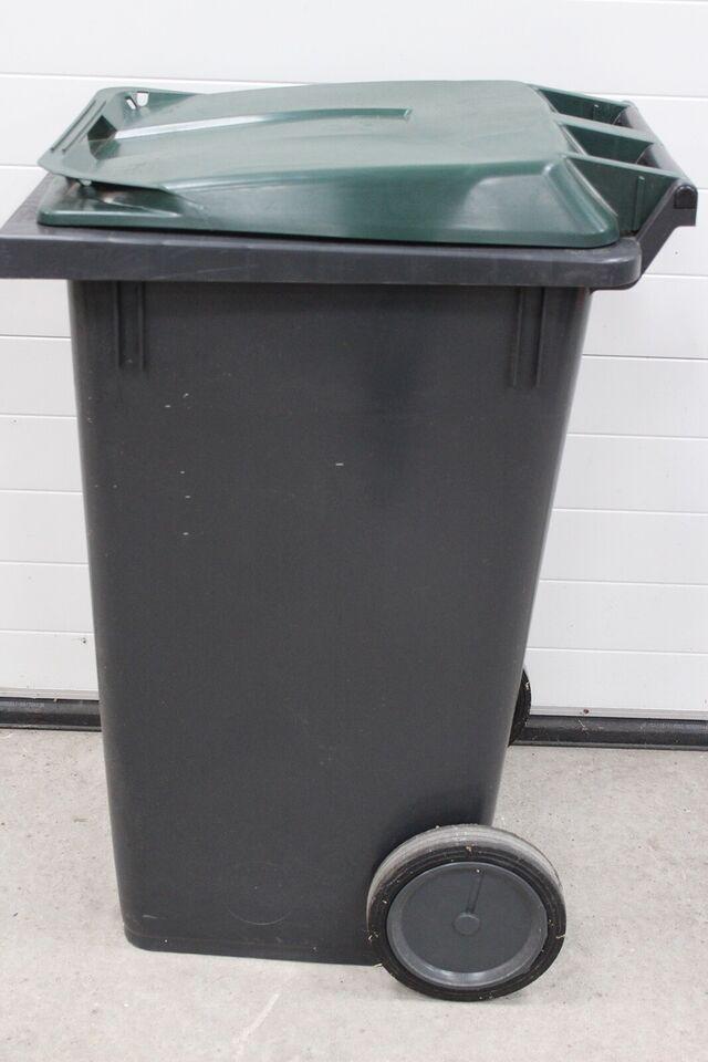 Plast beholder med hjul og vippelåg