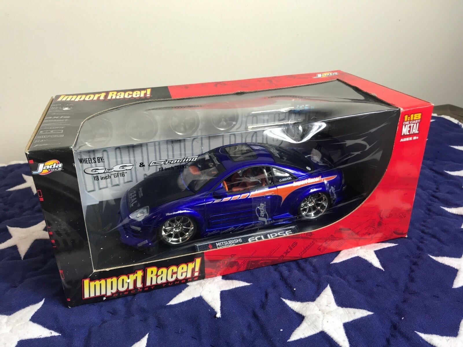 Jada import - racer mitsubishi eclipse blaue 1,18 extra - räder autos.