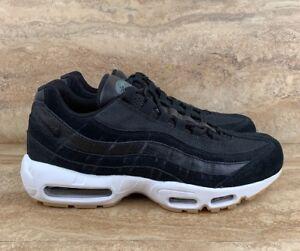 Details about Nike Air Max 95 PRM Premium Men's Shoes Black White Gum Bottom