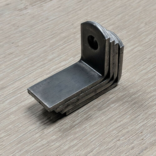 """Weld On Steel Angle L Brackets 2/"""" x 1/"""" x 1-1//2 1//8/"""" thickness12 Pack"""