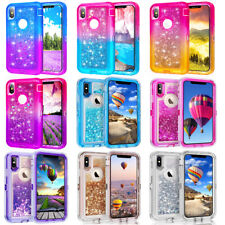 Case For iPhone X / XS / XR/ XS MAX   Glitter Quicksand Defender Cover Case