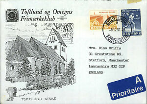 Denmark-1997-Toftlund-Sydjyllands-Air-Mail-Cover-To-England-C56219