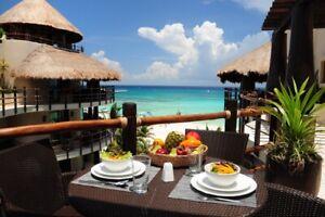 Departamento en venta frente al mar en Playa del Carmen