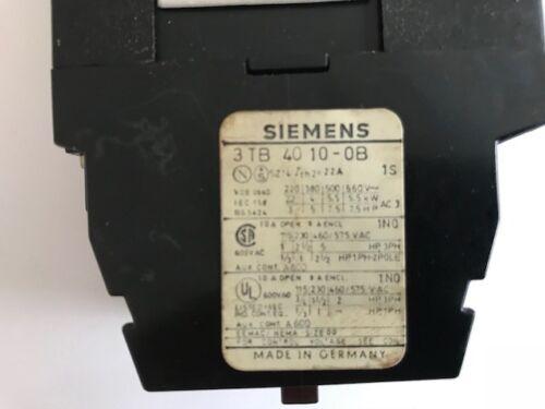 Siemens 3TB4010-0B Schütz 24 V Spulenspannung CNC Maschine 10E 3TB40 TOP