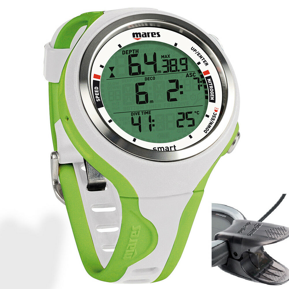 LO3 Mares DIVING Computer SMART LIME / Weiß STRAP + USB INTERFACE