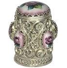 Dé à coudre collection Finift 6 miniatures émaillée Dé a coudre Collection russe