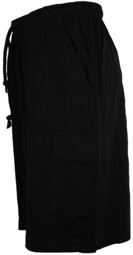 Perfect Collection Cotton Jersey Cargo Shorts Black