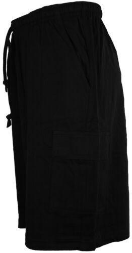 COLLEZIONE Perfetta Jersey Di Cotone Pantaloni Corti con Tasconi Nero