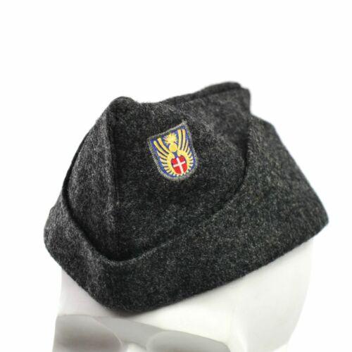 Genuine Danois Armée Laine Side Cap Domaine Militaire Combat Garrison Cap Chapeau années 1950