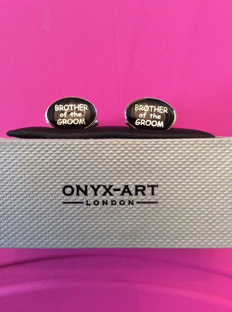 **REDUCED** Brother Of The Groom Cufflinks by Onyx Art CK57