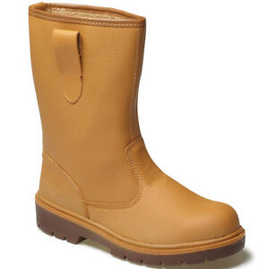 DICKIES-STEEL-TOE-CAP-SAFETY-RIGGER-BOOTS-SIZE-UK-3-13-FA23350-LINED-WORK-TAN