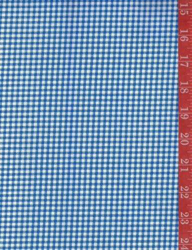 BLUE small check COTTON fabric DOLL CLOTHES quilt-craft-sew sold by the 1//2 YD