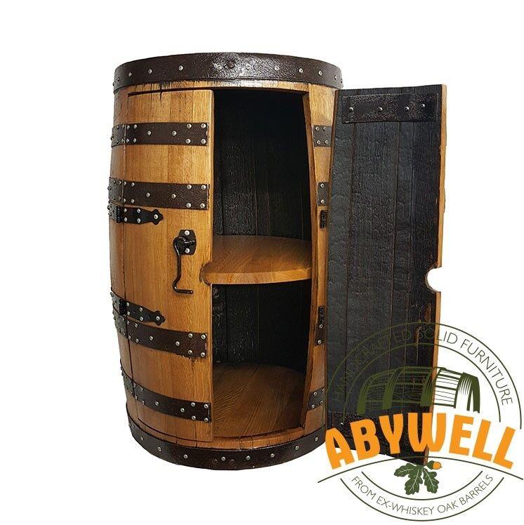 Verre cabinet   double portes   1 étagères   fait main en chêne massif Baril meubles