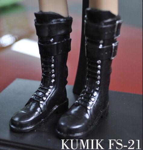 ❶❶1//6 kumik shoes FS-21 Black Widow Catwoman women black long Boot US seller❶❶