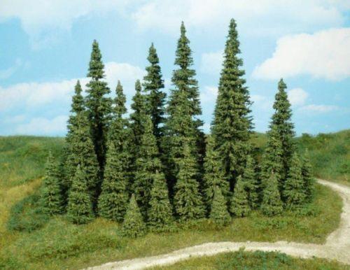 * Heki scala N 2180  30  alberi abeti pini tree tannen altezza  3-7 cm.