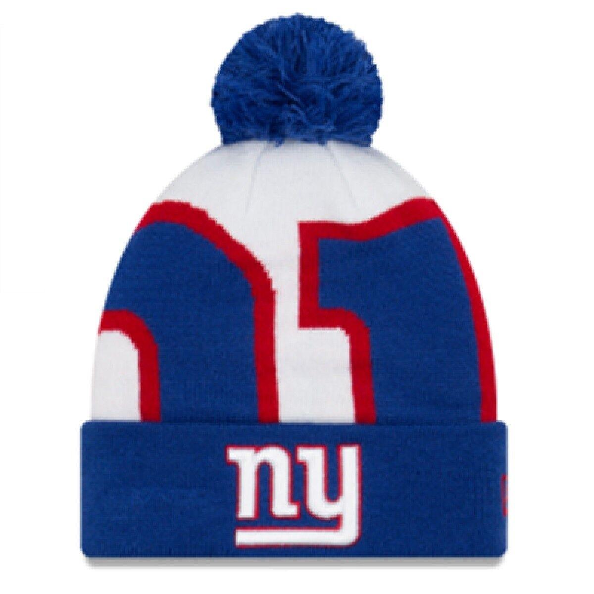 NFL Berretto Nuovo York Giants NY LOGO Whiz 3 INVERNO BERRETTO Cuffed Knit ha newera