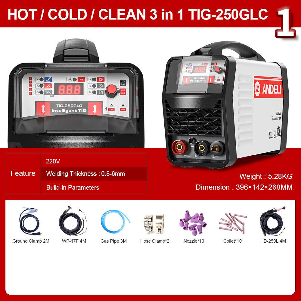 andeli_official_store 220V TIG Welding Machine DC Inverter COLD/TIG/CLEAN Multi-Function TIG Welder