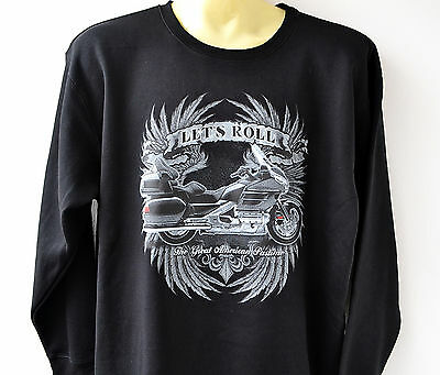 Sweat shirt Hoodie personnalise Goldwing GL 1800 moto capuche sweatshirt sweater
