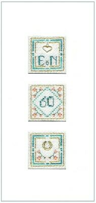 cross stitch kit 16 aida Silver Wedding Anniversary card