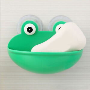 EE-Cartoon-Frog-Soap-Sponge-Suction-Drying-Holder-Home-Bathroom-Rack-Organizer