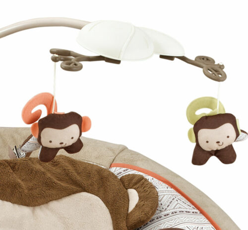 Baby Bouncer Cosy Monkey Rocker Chair With Soothing Music /& Vibrations