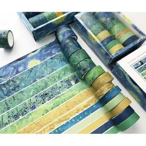 12X Japanese Washi Tape Sticker Scrapbooking Adhesive Paper Stationery Album DIY