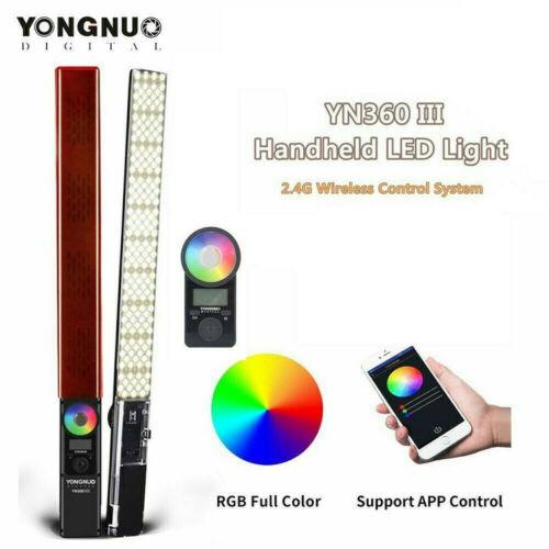 YONGNUO YN360III LED Video Light Immable Fill Lamp Full Color RGB 3200K-5500K