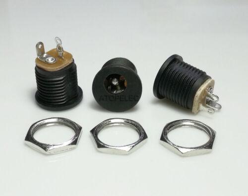 10-200 un 5.5MM*2.1MM//2.5MM DC Power Jack enchufe//del zócalo con Tuerca de montaje del panel