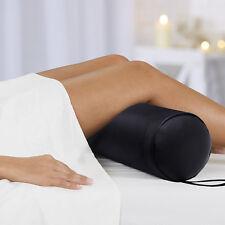 Massage Bolster Pillow Full Round Pillow Back Pain Relief Black
