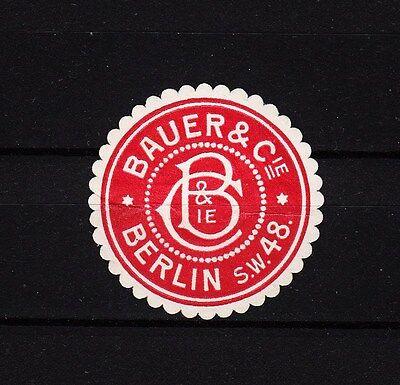 402807/ Siegelmarke - Bauer & Cie. - Berlin S.w.48
