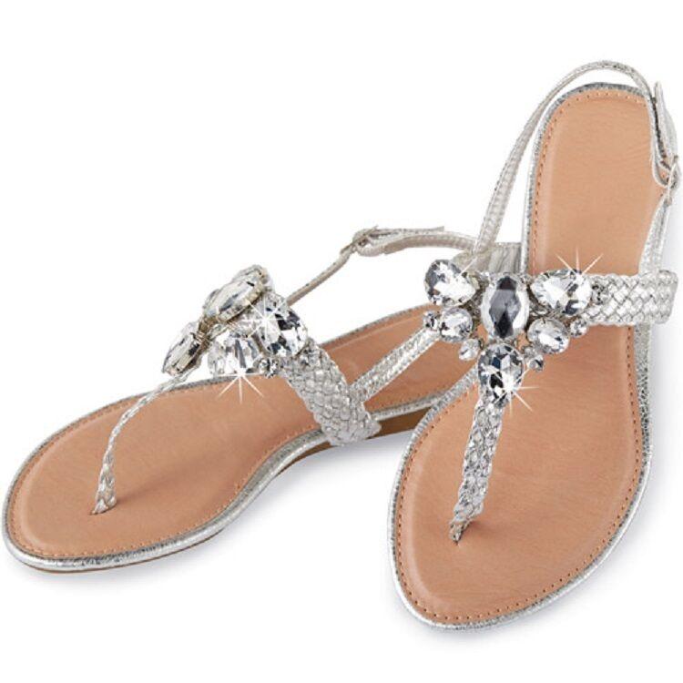 Skechers Rumblers - Solar Burst White Womens Wedge Sandals Size 7M