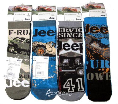 6 Pairs Boys Jeep Designer SUV Cherokee Design Socks