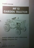 Massey Ferguson Mf 12 Lawn Garden Tractor & Implements Master Parts Manual 184pg