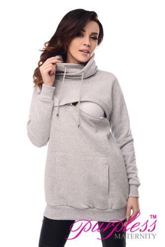 Purpless Maternity Breastfeeding Sweatshirt Cowl Neck Pullover Nursing Woman Top 9054