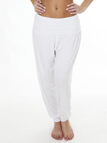 New Womens Ali Baba Plain Harem Leggings Pant Ladies Trousers Dress Size 8 10 14