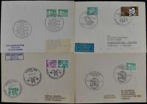 Allemagne 1983, 4 événement Spécial, Handstamp, Postmark Couvre #c49005-afficher Le Titre D'origine